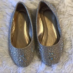 Other - Gold bling flats 8c